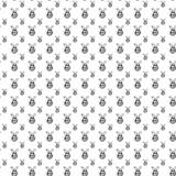 Seamless pattern hand drawn first place medal. Doodle black sket. Ch. Sign symbol. Decoration element. Isolated on white background. Flat design. Vector royalty free illustration