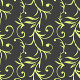 Seamless pattern with hand drawn floral elements. Stock Photo