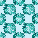 Seamless pattern with hand-drawn flowers Royalty Free Stock Photography