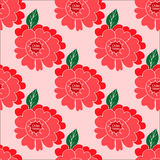 Seamless pattern with hand-drawn flowers Stock Image