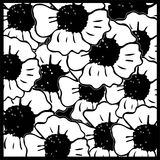 Seamless pattern with hand-drawn flowers Royalty Free Stock Photo