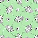 Seamless pattern with hand drawn flowers. Seamless pattern can be used for wallpaper, pattern fills, fabric. textile Royalty Free Stock Photos