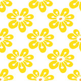 Seamless pattern with hand-drawn flowers Stock Photos