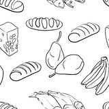 Seamless pattern-hand drawn food Royalty Free Stock Image