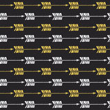 Seamless pattern with hand drawn gold and white arrows Royalty Free Stock Photo