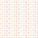 Seamless pattern of hand drawn hearts Royalty Free Stock Photography