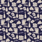 Seamless pattern with hand-drawn hygiene elements Stock Photo