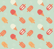 Seamless pattern with hand drawn ice cream Stock Images