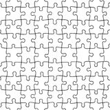 Seamless pattern of hand drawn jigsaw puzzle pieces. Separate pieces that can be extracted Royalty Free Stock Photography