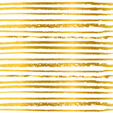 Seamless pattern hand-drawn line in golden color background for invitations and greeting cards Royalty Free Stock Photography