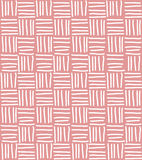 Seamless pattern with hand drawn line grid Royalty Free Stock Image