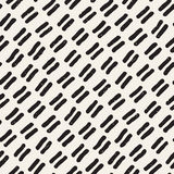 Seamless pattern with hand drawn lines. Abstract background with freehand brush strokes. Black and white texture Stock Photography