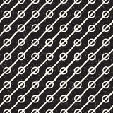 Seamless pattern with hand drawn lines. Abstract background with freehand brush strokes. Black and white texture Stock Images