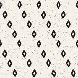 Seamless pattern with hand drawn lines. Abstract background with freehand brush strokes. Black and white texture Royalty Free Stock Images