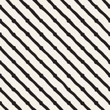 Seamless pattern with hand drawn lines. Abstract background with freehand brush strokes. Black and white texture Royalty Free Stock Photo