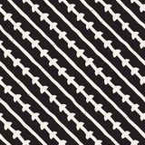 Seamless pattern with hand drawn lines. Abstract background with freehand brush strokes. Black and white texture. Seamless pattern with hand drawn lines Stock Photography