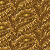 Seamless pattern with hand drawn  and lines .Vector illustr Stock Photo