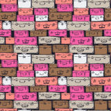 Seamless pattern with hand drawn luggage. Stock Image