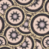 Seamless pattern with hand drawn mandala Royalty Free Stock Photos