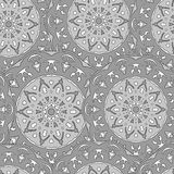 Seamless pattern with hand drawn mandala Royalty Free Stock Photography