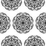 Seamless pattern with hand drawn mandalas Royalty Free Stock Photos