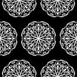 Seamless pattern with hand drawn mandalas Royalty Free Stock Images