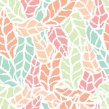Seamless pattern with hand drawn natural leaves Royalty Free Stock Images