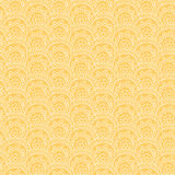 Seamless pattern with hand drawn ornament on a yellow background Stock Photos