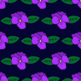Seamless pattern with hand-drawn pansy flowers Royalty Free Stock Photo