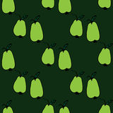 Seamless pattern with hand-drawn pears Stock Photos
