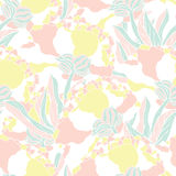 Seamless pattern with hand drawn peony flowers Royalty Free Stock Photography