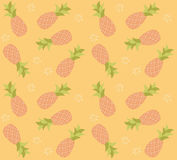 Seamless pattern with hand drawn pineapple fruit Royalty Free Stock Photography