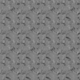 Seamless pattern with hand drawn portraits and scribbles. Stock Images