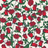 Seamless pattern of hand drawn roses. Vector illustration vector illustration