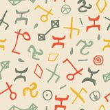 Seamless pattern with hand drawn shapes. Stock Photos