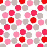 Seamless  pattern with hand drawn small doodle dots. Ink illustration Stock Photography
