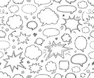 Seamless pattern. Hand drawn  speech bubbles Stock Images