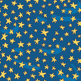 Seamless pattern with hand drawn stars. Hand drawn stars background vector seamless pattern Royalty Free Stock Photography