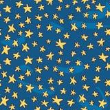 Seamless pattern with hand drawn stars. Hand drawn stars background vector seamless pattern vector illustration