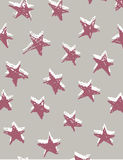Seamless pattern with hand drawn stars. Festive wrap, background. Vector illustration. Stock Images