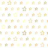 Seamless pattern with hand drawn stars. Repeating texture with doodle symbols Stock Photos