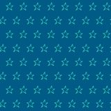 Seamless pattern with hand drawn stars. Repeating texture with doodle symbols Stock Photography
