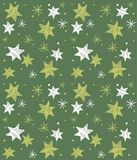 Seamless pattern with hand-drawn stars. Vector Stock Image