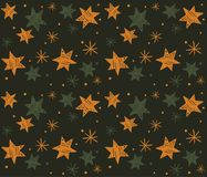 Seamless pattern with hand-drawn stars. Vector Royalty Free Stock Photos