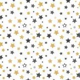 Seamless pattern with hand drawn stars. Stylish background. Vector illustration royalty free illustration