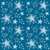 Seamless pattern with hand-drawn stars. Vector royalty free illustration