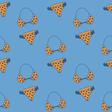 Seamless pattern with hand drawn swimming suit Royalty Free Stock Image