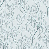 Seamless pattern with  hand drawn twigs Stock Photo