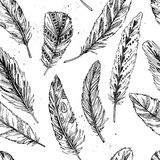Seamless pattern. Hand drawn vector vintage illustration Stock Images