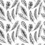 Seamless pattern. Hand drawn vector vintage illustration Royalty Free Stock Photos